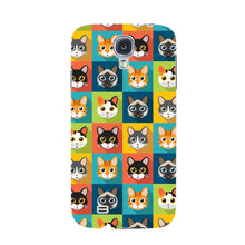 Colorful Cat Faces Phone Case Samsung Galaxy S4 case
