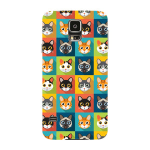 Colorful Cat Faces Phone Case Samsung Galaxy S5 case