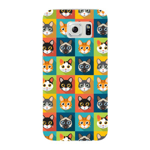 Colorful Cat Faces Phone Case Samsung Galaxy S6 Edge case
