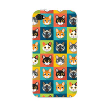 Colorful Cat Faces Phone Case iPhone 4S case