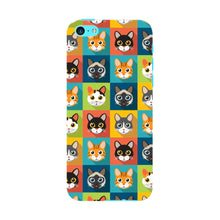 Colorful Cat Faces Phone Case iPhone 5C case