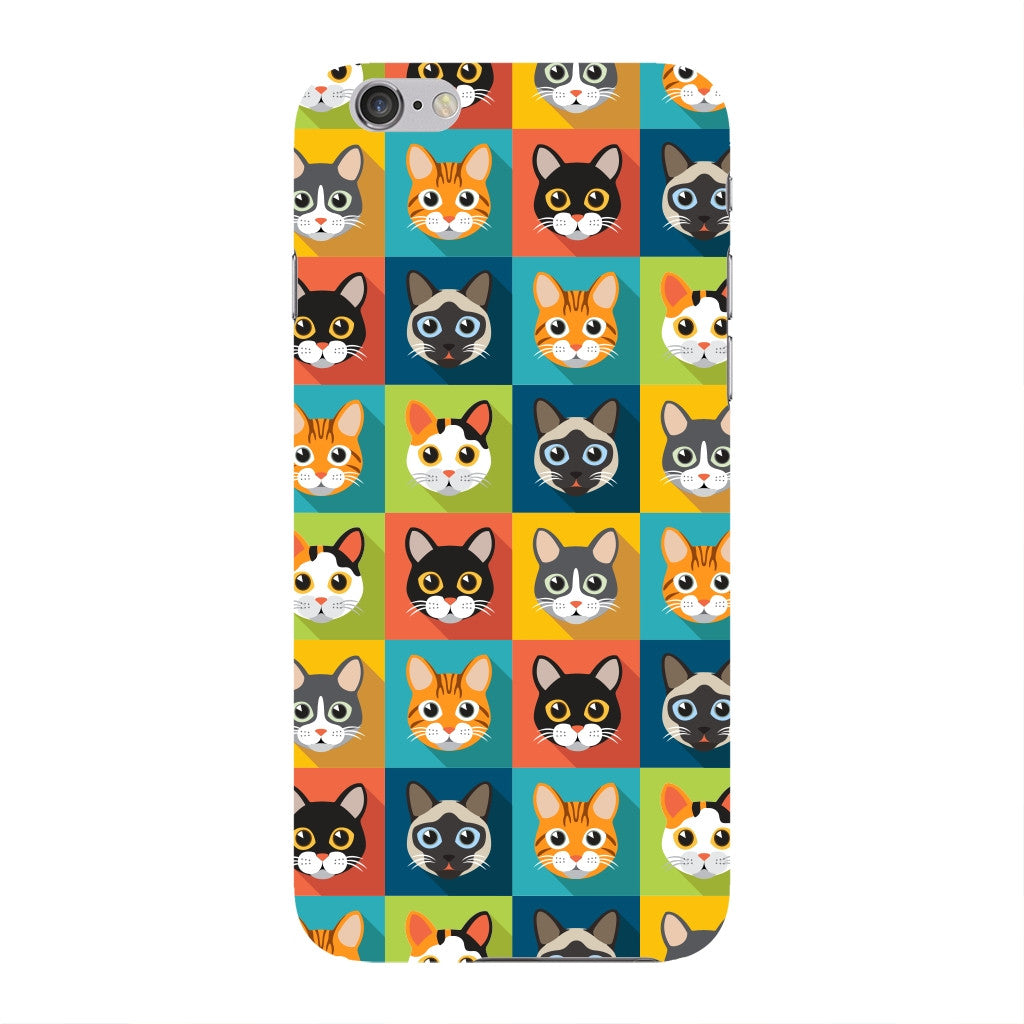 Colorful Cat Faces Phone Case iPhone 6 case