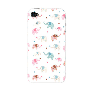 Colorful Elephants Phone Case iPhone 4S case