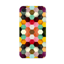Colorful Geometric Shapes Phone Case iPhone 4S case
