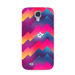 Colorful Geometric Waves Initials Custom Phone Case Samsung Galaxy S4 case