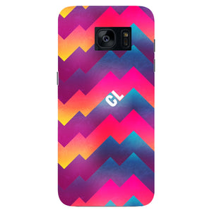 Colorful Geometric Waves Initials Custom Phone Case Samsung Galaxy S7 Edge case