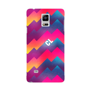 Colorful Geometric Waves Initials Custom Phone Case Samsung Galaxy Note 4 case