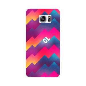 Colorful Geometric Waves Initials Custom Phone Case Samsung Galaxy Note 5 case