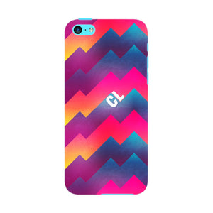 Colorful Geometric Waves Initials Custom Phone Case iPhone 5C case