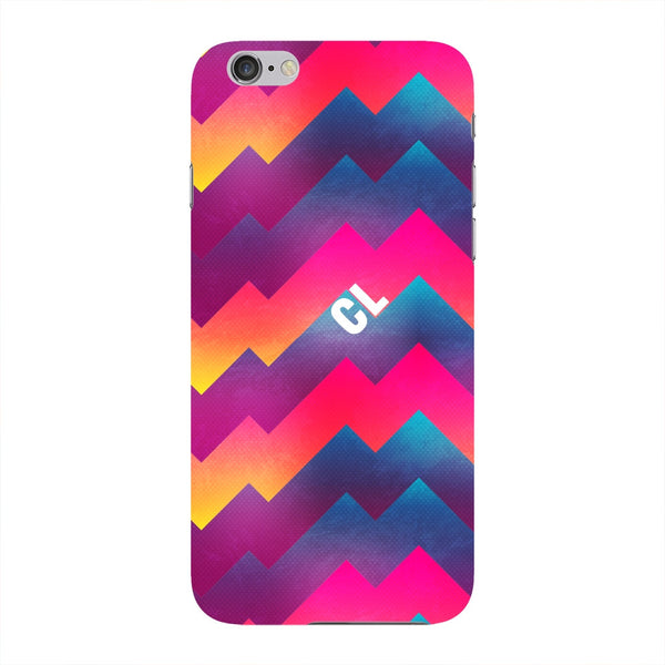 Colorful Geometric Waves Initials Custom Phone Case iPhone 6 case
