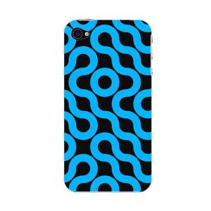 Curved Geometric Pattern Phone Case iPhone 4S case