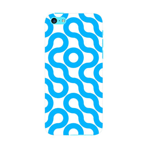 Curved Geometric Pattern Phone Case iPhone 5C case