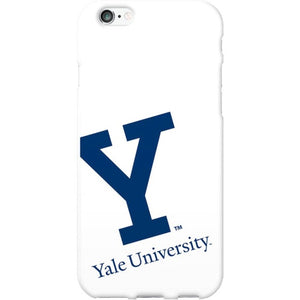 OTM Yale University White Phone Case, Cropped V1