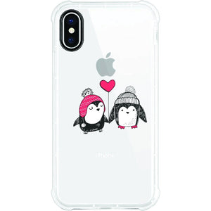 OTM Phone Case, Tough Edge, Penguin Love