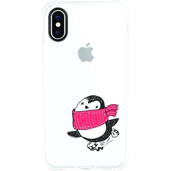 OTM Phone Case, Tough Edge, Skating Penguin