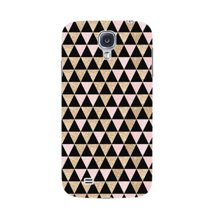 Gold Pink Printed Triangle Glitter Phone Case Samsung Galaxy S4 case