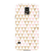 Gold Pink Printed Triangle Glitter Phone Case Samsung Galaxy S5 case