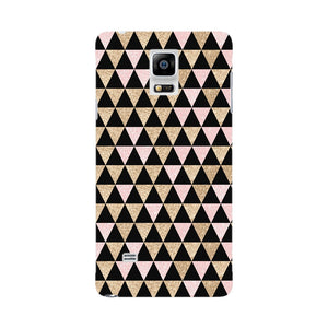 Gold Pink Printed Triangle Glitter Phone Case Samsung Galaxy Note 4 case