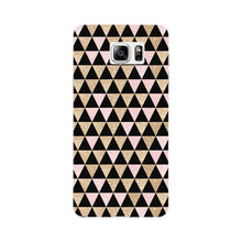 Gold Pink Printed Triangle Glitter Phone Case Samsung Galaxy Note 5 case