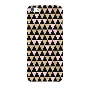 Gold Pink Printed Triangle Glitter Phone Case iPhone 5 case