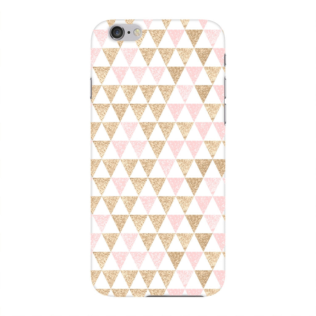 Gold Pink Printed Triangle Glitter Phone Case iPhone 6 case