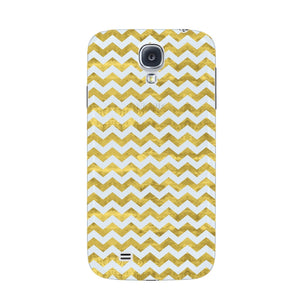 Gold Printed Glitter Waves Phone Case Samsung Galaxy S4 case