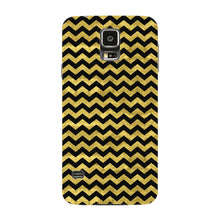 Gold Printed Glitter Waves Phone Case Samsung Galaxy S5 case