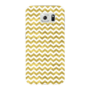 Gold Printed Glitter Waves Phone Case Samsung Galaxy S6 Edge case