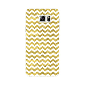 Gold Printed Glitter Waves Phone Case Samsung Galaxy Note 4 case