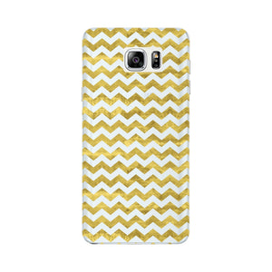 Gold Printed Glitter Waves Phone Case Samsung Galaxy Note 5 case