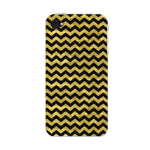 Gold Printed Glitter Waves Phone Case iPhone 4S case