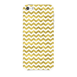 Gold Printed Glitter Waves Phone Case iPhone 5 case