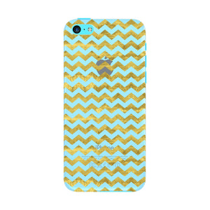 Gold Printed Glitter Waves Phone Case iPhone 5C case