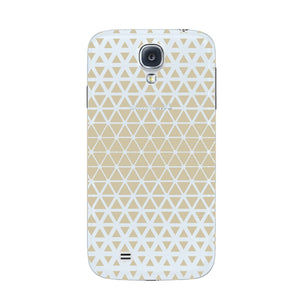 Gold Triangles & Mini Hexagons Phone Case Samsung Galaxy S4 case