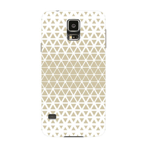 Gold Triangles & Mini Hexagons Phone Case Samsung Galaxy S5 case