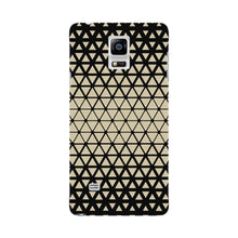 Gold Triangles & Mini Hexagons Phone Case Samsung Galaxy Note 4 case