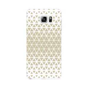 Gold Triangles & Mini Hexagons Phone Case Samsung Galaxy Note 5 case
