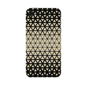 Gold Triangles & Mini Hexagons Phone Case iPhone 4S case
