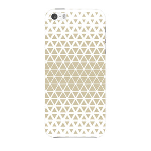 Gold Triangles & Mini Hexagons Phone Case iPhone 5 case