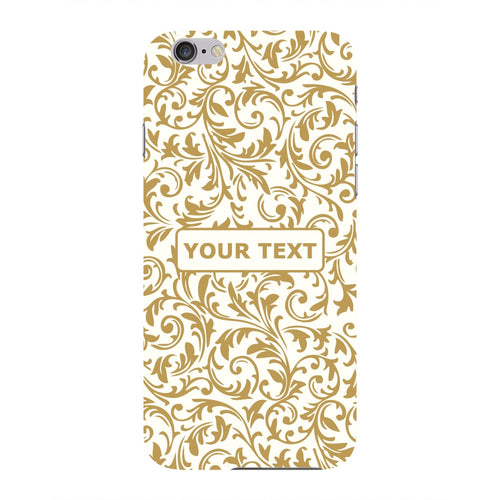 Golden Floral Pattern Custom Phone Case iPhone 6 case