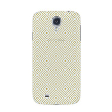 Golden Glitter Squares Phone Case Samsung Galaxy S4 case