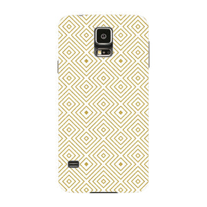 Golden Glitter Squares Phone Case Samsung Galaxy S5 case