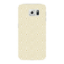 Golden Glitter Squares Phone Case Samsung Galaxy S6 Edge case