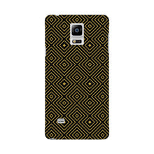 Golden Glitter Squares Phone Case Samsung Galaxy Note 4 case