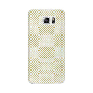 Golden Glitter Squares Phone Case Samsung Galaxy Note 5 case