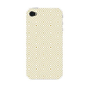 Golden Glitter Squares Phone Case iPhone 4S case