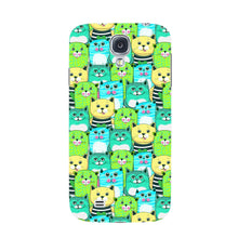 Green, Yellow, & Blue Funny Cats Phone Case Samsung Galaxy S4 case