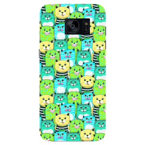 Green, Yellow, & Blue Funny Cats Phone Case Samsung Galaxy S7 Edge case
