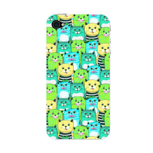 Green, Yellow, & Blue Funny Cats Phone Case iPhone 4S case