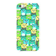 Green, Yellow, & Blue Funny Cats Phone Case iPhone 5 case